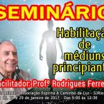 Seminário Habilitação de Médiuns Principiantes em São José do Rio Preto – SP