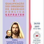 Curso de formação de dirigentes de Reuniões Públicas – Gefrater – Belo Horizonte – MG