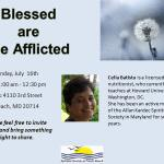 "Public Meeting ""Blessed are the afflicted"", SSNB, North Beach, MD – USA"