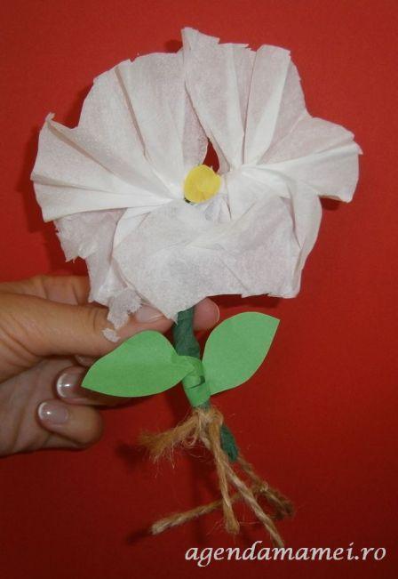 activitati copii craft structura florii