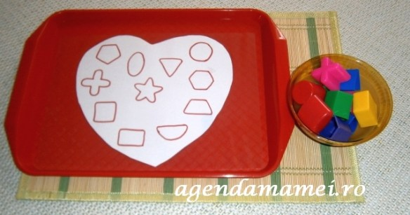 Forme geometrice activitate de Sf. Valentin