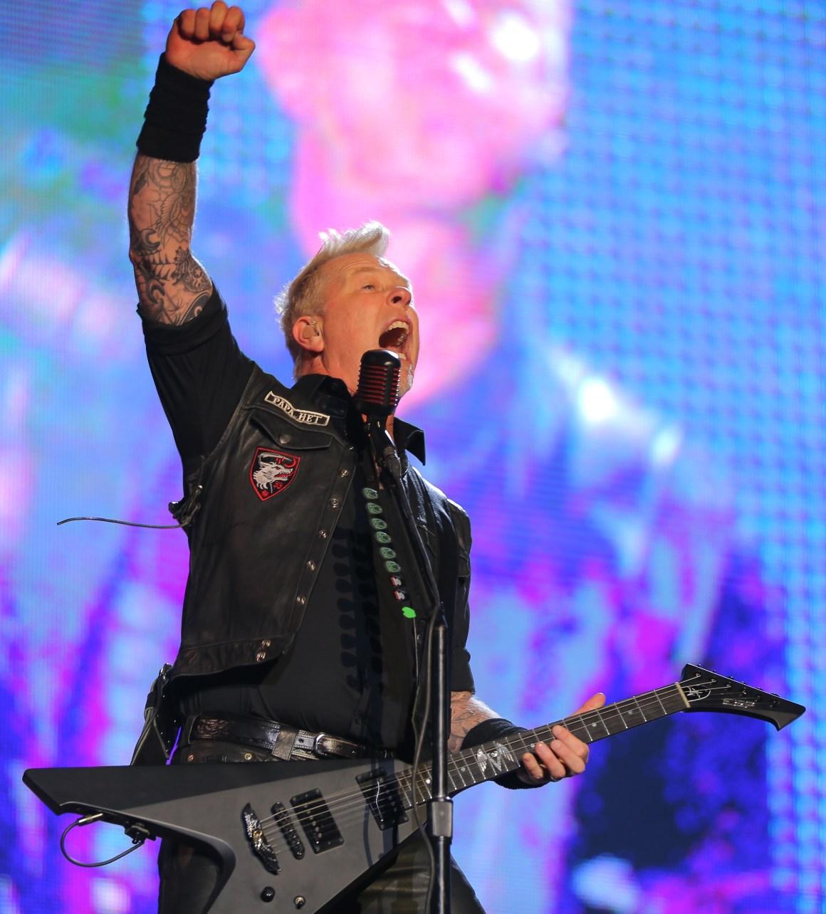 Metallica VTR Stage Lollapalooza Chile 2017 Parque O'Higgins, Santiago, Chile. Sabado 01 de Abril Foto por Carlos Muller/ para Lotus Producciones