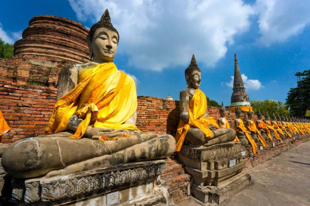 Ruined Old Temple of Ayutthaya, thailandia,