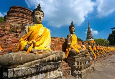 Ruined Old Temple of Ayutthaya, thailandia,