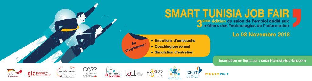 SMART TUNISIA JOB FAIR : Première édition du salon de l'emploi dédié aux métiers des TIC