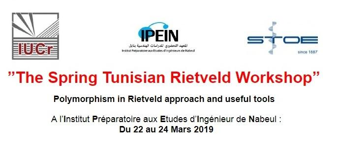 """The Spring Tunisian Rietveld Workshop"""
