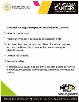 seguridad festival de la cantera
