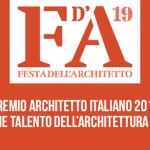 Premio Architetto italiano 2019