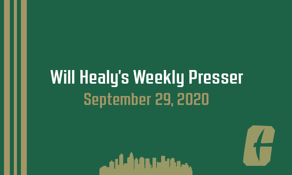 Will Healy's weekly press conference   September 29, 2020