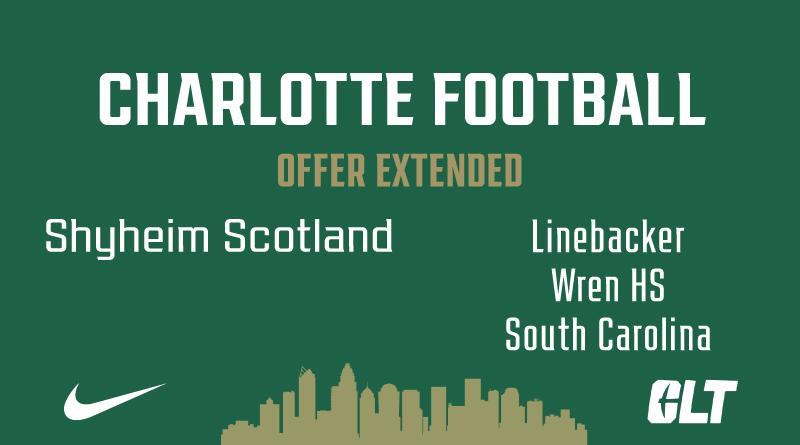 Charlotte Football offers Shyhiem Scotland