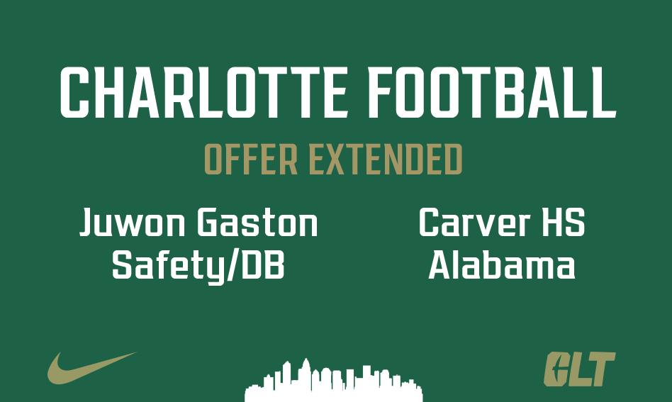 Charlotte Football offers Juwon Gaston