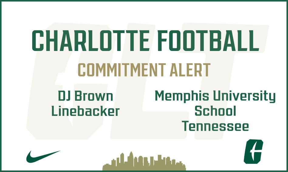 Charlotte Football lands commitment from DJ Brown