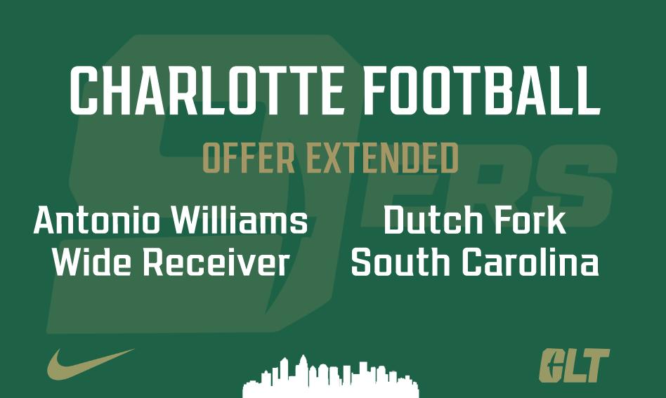 Charlotte Football offers Antonio Williams