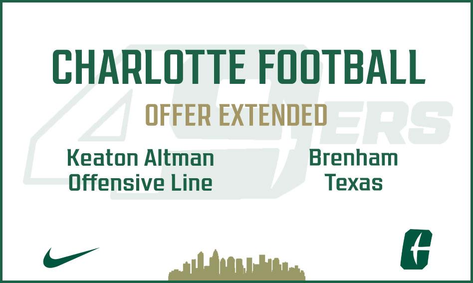 Charlotte Football offers Keaton Altman