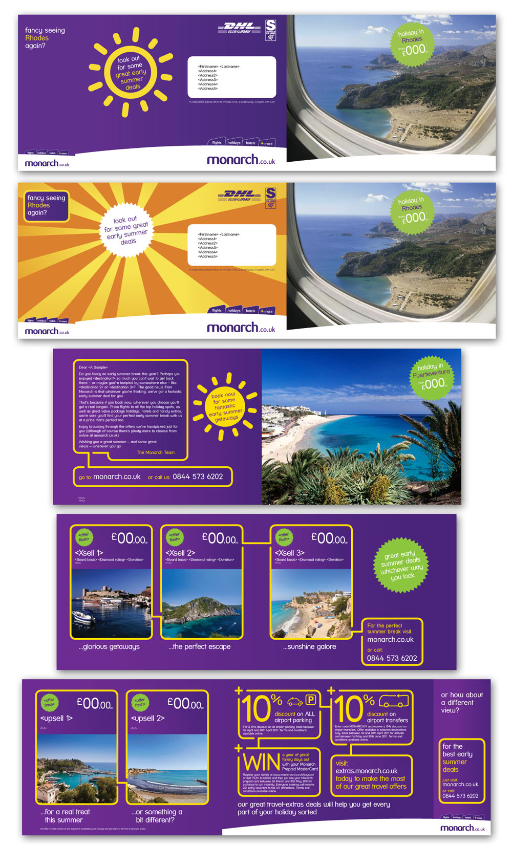 Monarch Direct Mail Design