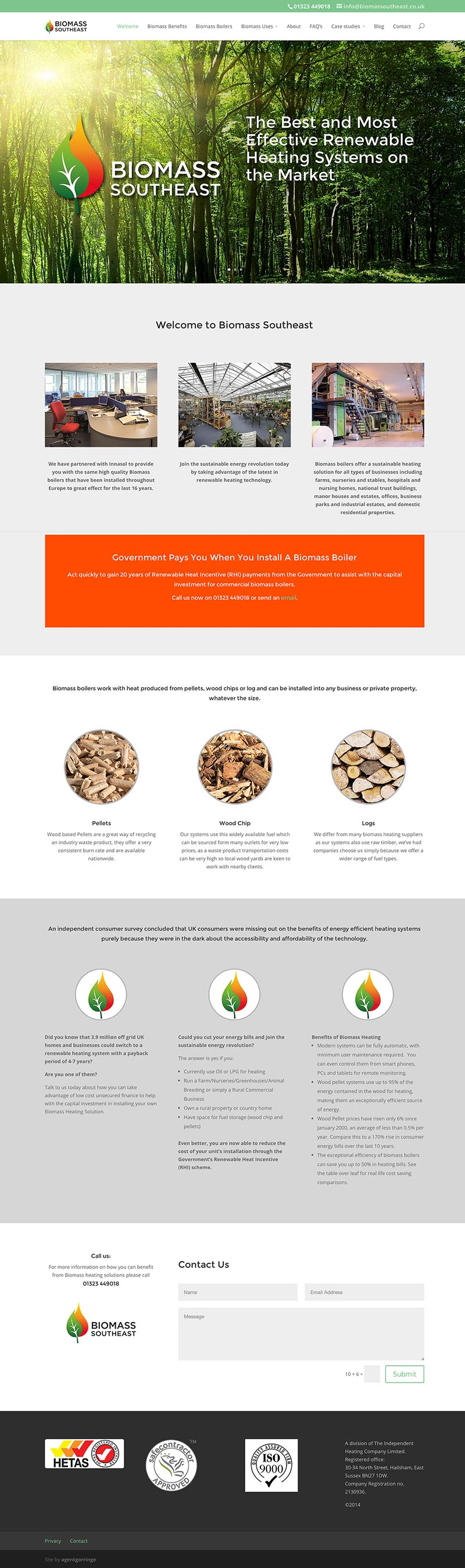 Biomas Southeast Responsive Website