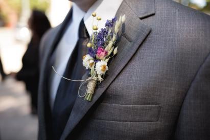 Podzimní svatba: dekorace klopy