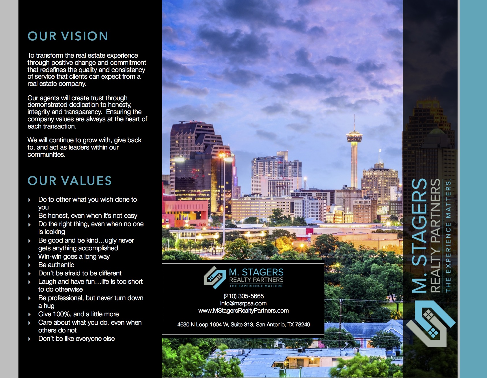Trifold Brochure - Agent Operations® | A Full-Service REALTOR® and Real  Estate Marketing, Logistics, and Support Services Firm