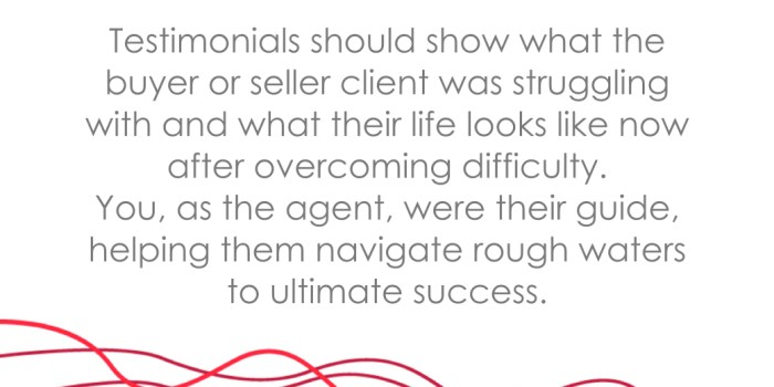 REALTOR Testimonials real estate agent operations marketing tips acumen by ao