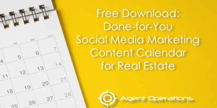 Done-for-You Social Media Marketing Content Calendar for REALTORS®