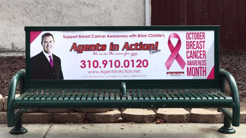 Breast Cancer Awaremess Bus Bench 2018