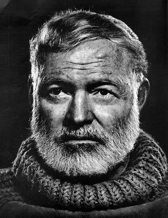 Schriftsteller Ernest Hemingway lebte und arbeitete von 1921 bis 1926 in Paris.