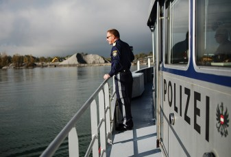 Reportage, Seepolizei, Hard am Bodensee, Reling