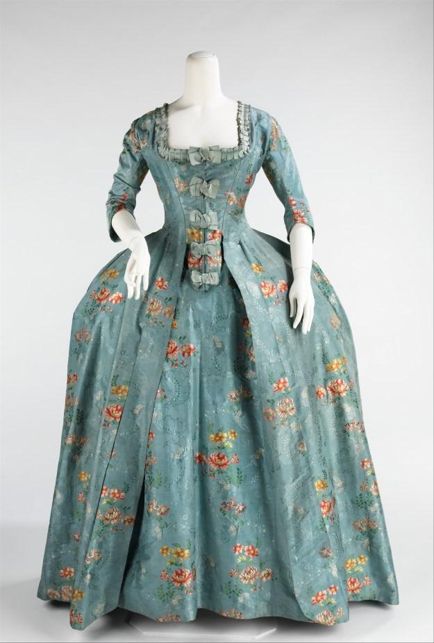 Blue Robe à la Française at The Metropolitan Museum of Art, 1760 - 1770