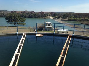 Kerrville water treatment plant, which draws from the Guadalupe River