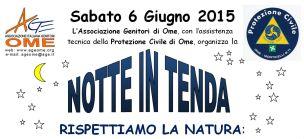 Icona Notte in tenda 2015