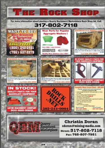 QEM Rock Shop AES Ad Sep. 2014