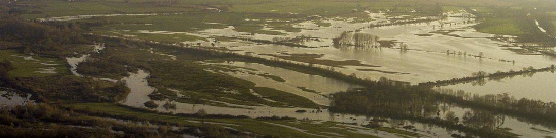 vue aérienne d'inondation 2003