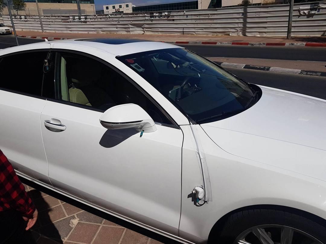 Audi équipée du système anti-collisions
