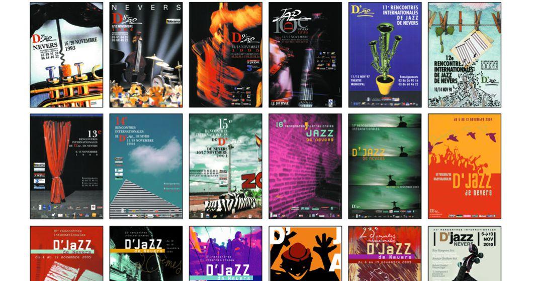 Toutes les affiches du Djazz Nevers Festival