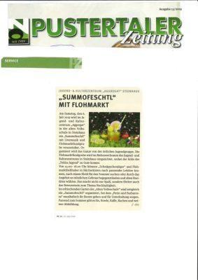 Pustertaler Zeitung_Summofeschtl mit Flohmarkt_27.06.19