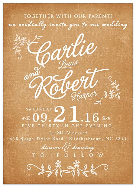 Free Rustic Wedding Invitation Fonts