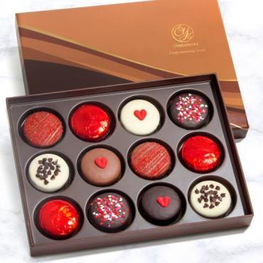 ACC1004, Sweet Love Chocolate Covered Oreos Dozen Gift Box