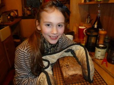 Agi K making banana bread 2012