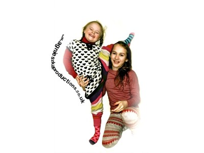 Agi K & Magdalena wearing brightly coloured socks for World Down's syndrome day