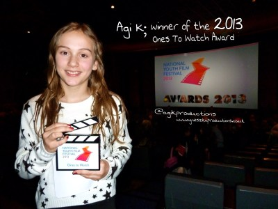 Agi K at Vue Cinema with one to watch award 2013