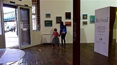 Agi K and Magdalena exploring the art at The Reveal
