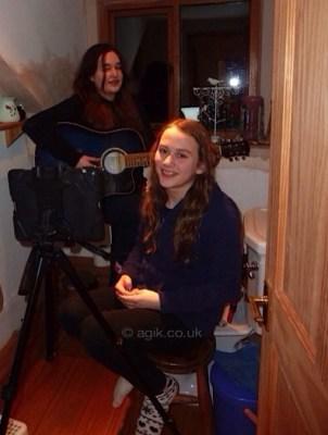 Agi K with singer Abi Foster
