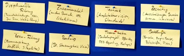 Aufgabenbereiche der GEM-Rolle
