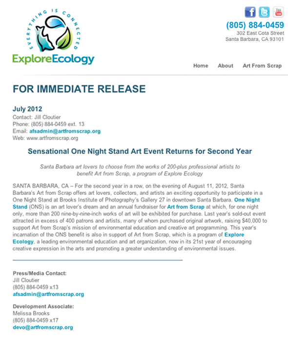 Web press release