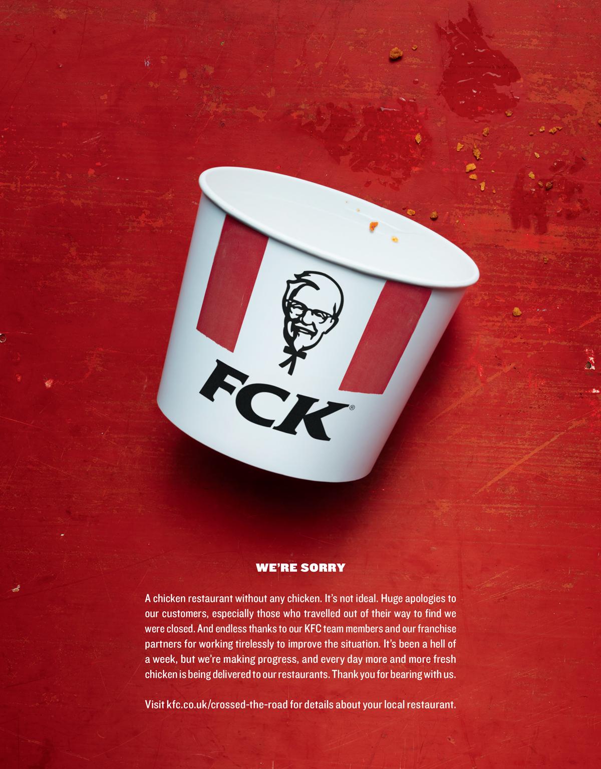 KFC rolls the dice and strikes crisis-response gold