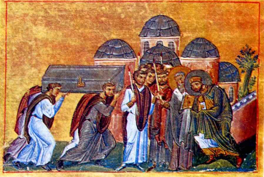 Εγκωμιαστικός λόγος στην ανακομιδή του λειψάνου του Ιερού Χρυσοστόμου που συνέγραψε ο Άγιος Νικόδημος ο Αγιορείτης