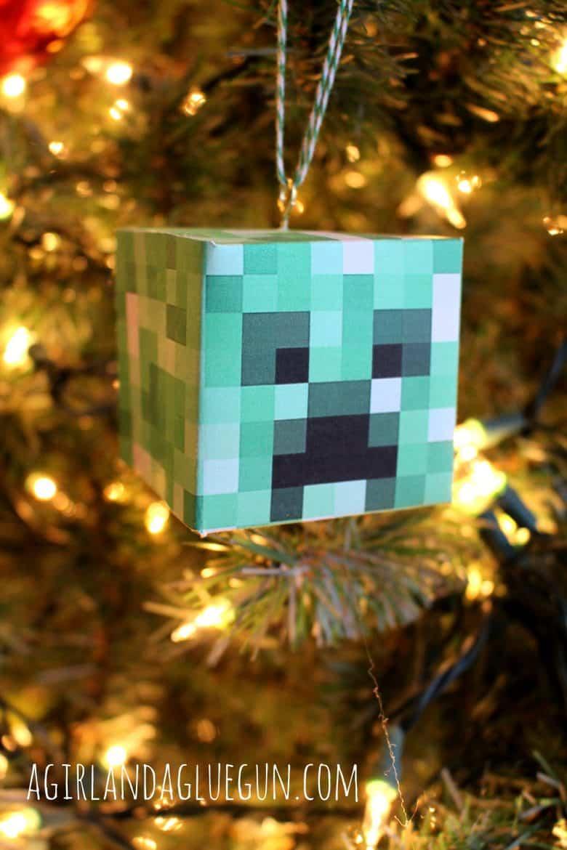 Diy Minecraft Ornament A Girl And A Glue Gun
