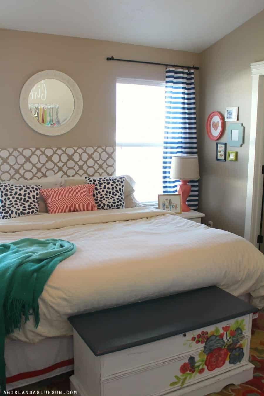 shower curtain to regular curtains! - A girl and a glue gun on Master Bedroom Curtain Ideas  id=29168