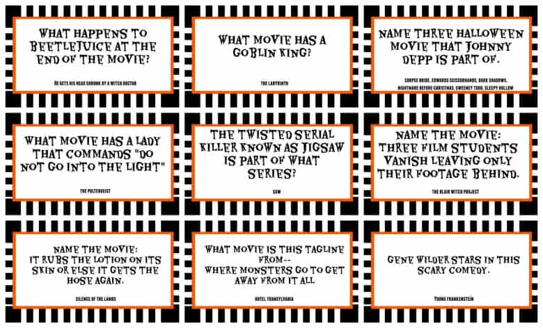 Halloween Trivia Game With Free Printables Kids Version