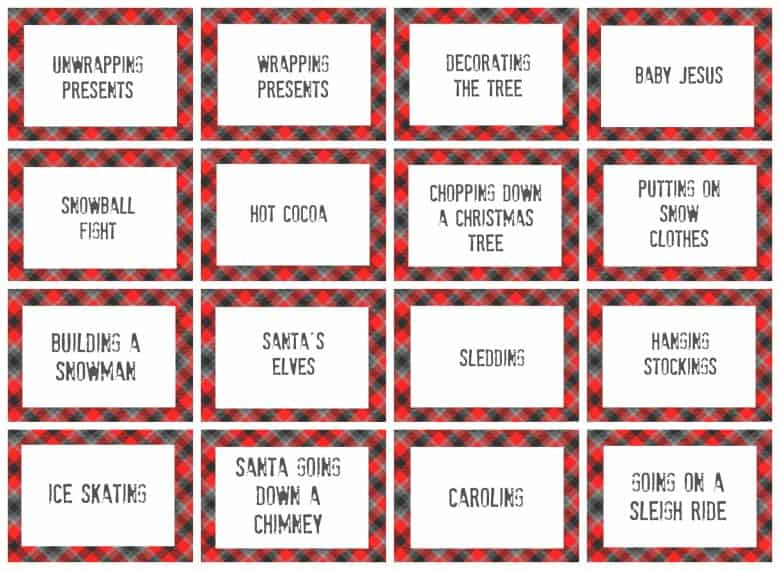 Christmas Charades Game And Free Printable Roundup A